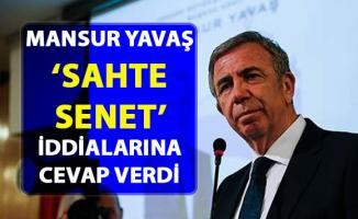 Mansur Yavaş, 'Sahte Senet' iddialarına cevap verdi!