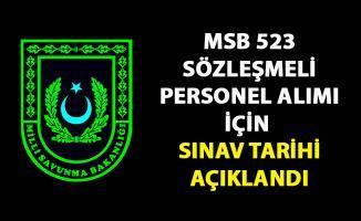 Milli Savunma Bakanlığı (MSB) 523 Sözleşmeli Personel alımı için sözlü sınav tarihi açıkladı