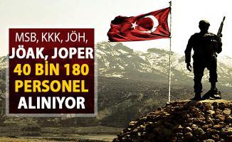 MSB KKK JÖH JÖAK JOPER 40 Bin 180 Kamu Personeli Alımı Yapılıyor