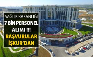 Sağlık Bakanlığı 7 Bin Kamu Personeli Alımı ! Başvurular İŞKUR Üzerinden