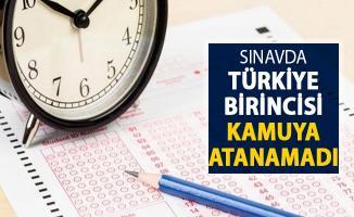Sınavda Türkiye Birinci Olan Aday Kamuya Atanamadı !