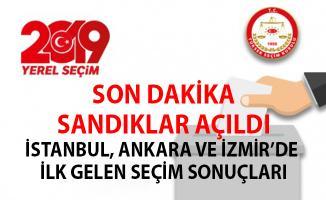 Son dakika! Sandıklar Açıldı- İstanbul, Ankara ve İzmir'den gelen ilk seçim sonuçları
