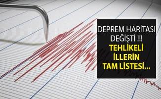 Türkiye Deprem Haritası Değişti- 5 İl Daha Tehlikeli Listesine Girdi