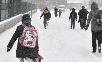 Van Başkale'de Okullara Kar Tatili
