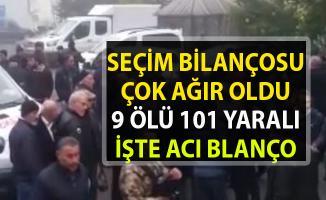 Yerel seçim bilançosu ağır oldu!. 9 ölü 101 yaralı