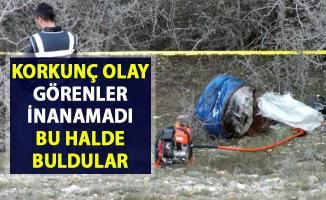 Yozgat'ta preslenmiş varil içerisinde erkek cesedi bulundu!