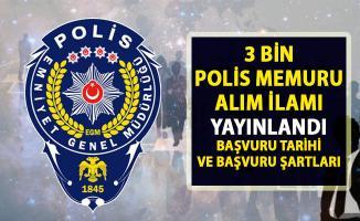 2019 yılı 24. dönem polis memur alımı ilanı yayımlandı!. Polis memuru alımı başvuru şartları!..