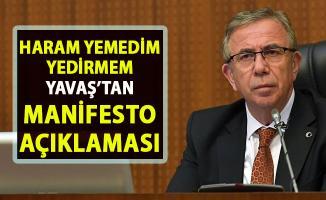 Ankara Büyükşehir Belediye Başkanı Mansur Yavaş'tan manifesto açıklaması