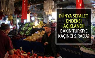 Dünya Sefalet Endeksi Açıklandı: Türkiye Dördüncü Sırada
