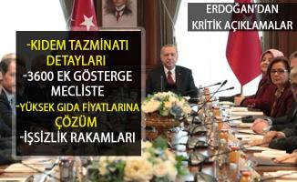 Erdoğan'dan Kıdem Tazminatı ve 3600 Ek Gösterge Açıklaması