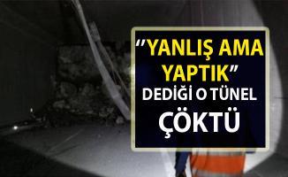 Hopa kesiminde yer alan Kopmuş tüneli çöktü!..