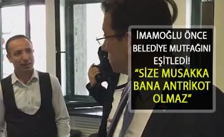 """İmamoğlu Belediye'deki Tabldotu Eşitledi: """"Bana Antrikot, Size Musakka Olmaz"""""""