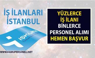 İş ilanları İstanbul! İŞKUR tarafından Vasıflı vasıfsız yüzlerce personel alımı yapılacak!..