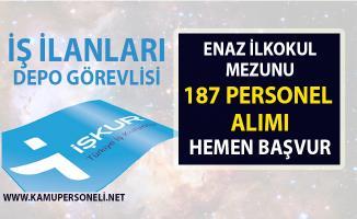 İŞKUR, 187 depo sevkiyatı personel alımı yapacaktır! 2019 Nisan ayı iş ilanları!..