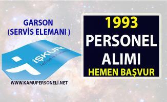 İŞKUR 2019 Nisan ayı iş ilanları! 1993 garson (servis elemanı) alımı yapılacaktır!