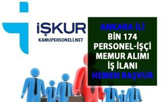 İŞKUR Ankara iş ilanları! 2019 Personel, işçi ve memur alımı güncel ilanlar!..