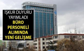 İŞKUR'dan Yeni Duyuru Yayımlandı! Büro Personeli Alımında Son Dakika Gelişmesi