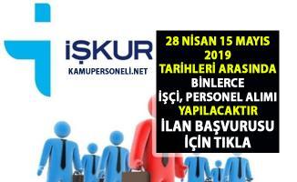 İŞKUR tarafından binlerce işçi personel alımı için yüzlerce yeni iş ilanları yayınlandı!..