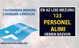 İŞKUR tarafından danışma memuru 123 personel alımı yapılacaktır! 2019 nisan ayı iş ilanları!..