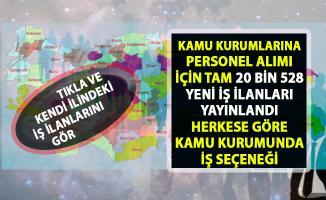 İŞKUR tarafından kamu kurumlarına personel alımı için 20 bin 528 yeni iş ilanları yayımlandı!