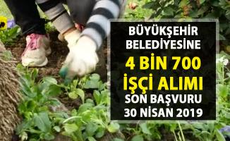 İŞKUR vasıfsız işçi alımı iş ilanları! Ankara Büyükşehir Belediyesine 4 bin 700 işçi alımı yapılacak..