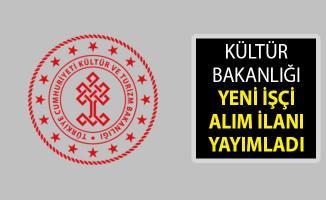 Kültür ve Turizm Bakanlığı İşçi Alım İlanı Yayımlandı- Kültür Bakanlığı Personel Memur Alım İlanı