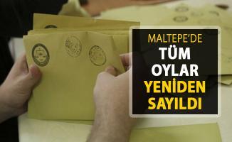 Maltepe'deki Seçimlerde Yeniden Sayım İşlemi Sona Erdi