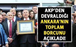 Mansur Yavaş, Ankara Büyükşehir Belediyesi'nden kalan borç miktarını açıkladı!..