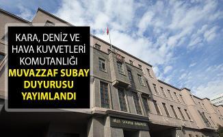 MSB Kara, Deniz Ve Hava Kuvvetleri Komutanlığı Muvazzaf Subay Duyurusu Yayımlandı!