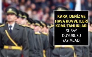 MSB Kara, Deniz ve Hava Kuvvetleri Subay Duyuruları Yayımlandı! Milli Savunma Bakanlığı Subay Temin