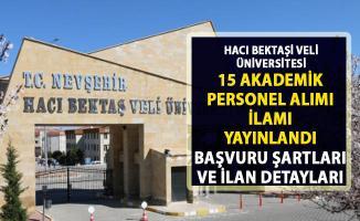 Nevşehir Hacı Bektaş Veli Üniversitesi akademik personel alımı ilanı yayınladı!..