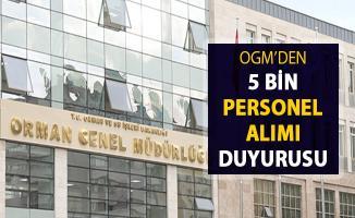 OGM'den 5 Bin Personel Alımı Duyurusu Yayımlandı