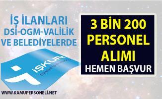 Personel alımı için yeni iş ilanları yayınlandı! İŞKUR, TYP kapsamında 3 bin 200 kişi alacak!