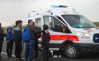 Tekirdağ'da Korkunç Kaza! Öğrenci Servisi Devrildi Çok Sayıda Yaralı Var
