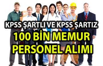 100 bin memur-personel alımı!