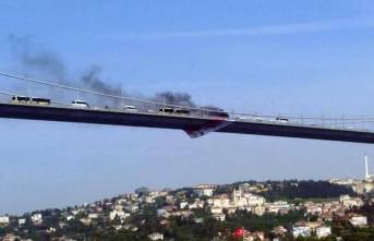 15 Temmuz Şehitler Köprüsü'nde İntihar! Önce Aracını Yaktı, Sonra Aşağı Atladı