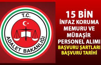 Adalet Bakanlığı İnfaz Koruma Memuru (İKM) ve Mübaşir alım ilanı! 15 Bin memur personel alımı iş başvurusu!