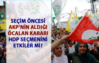 AKP'nin Öcalan kararı HDP oylarını etkiler mi?