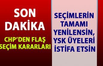 CHP'den İstanbul seçimleri ile ilgili flaş karar