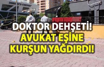 Diyarbakır'da doktor dehşeti! Avukat eşine kurşun yağdırdı