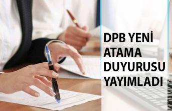 DPB Yeni Atama Duyurusunu Yayımladı! DPB Atama 2019