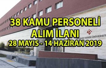 Eskişehir Teknik Üniversitesi Kamu Personeli Alım İlanı! 38 Akademik Personel alımı yapılacaktır