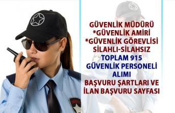 Güvenlik görevlisi iş ilanları! İŞKUR tarafından 915 güvenlik personel alımı yapılacaktır!