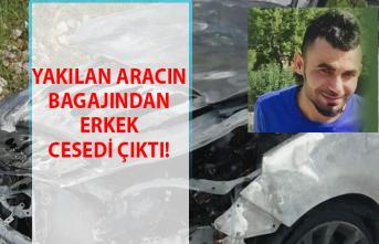 Hatay'da yakılan aracın bagajında erkek cesedi çıktı!.