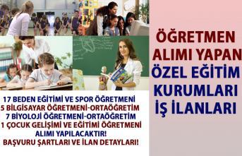 İŞKUR'da yayımlanan öğretmen alım ilanları! Öğretmen alımı yapan özel eğitim kurumları iş ilanları!