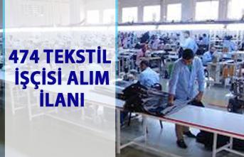 İŞKUR'dan tekstil iş ilanları: 474 Tekstil daimi işçi alımı