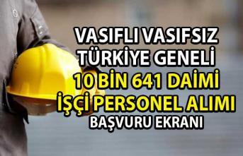 İŞKUR Güncel İş İlanları! Vasıflı Vasıfsız 10 bin 641 işçi personel alımı yapılacaktır!