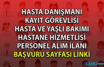 İŞKUR sağlık hizmetleri personel alımı iş ilanları! İŞKUR'dan hastane personeli alım ilanları!