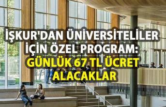 İŞKUR sosyal çalışma programları! Üniversite öğrencilerine günlük katılım ücreti olarak 67 lira ödenecek