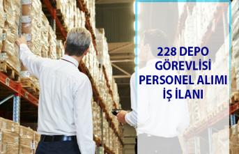 İŞKUR tarafından 228 depo görevlisi personel alımı iş ilanları